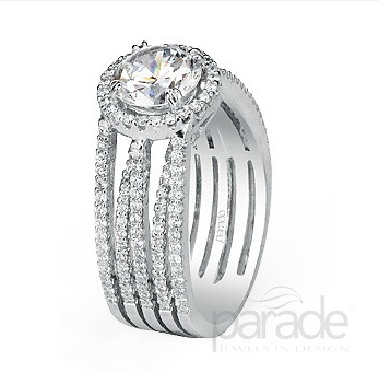 5Band Diamond Engagement Ring By Parade Jewelry J Lewis Jewelry