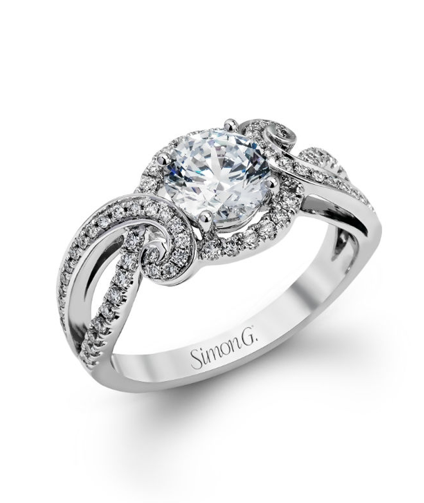 ring crescent engagement design leaf sculpted tacori rings
