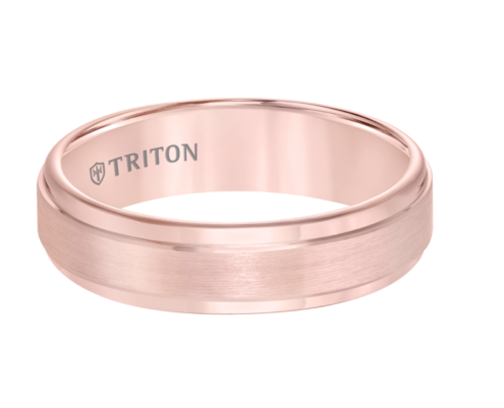 Rose Tungsten Band | J. Lewis Jewelry | Custom and Handcrafted ...