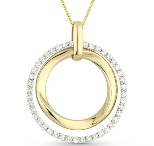 bold diamond and yellow gold pendant j lewis jewelry custom and