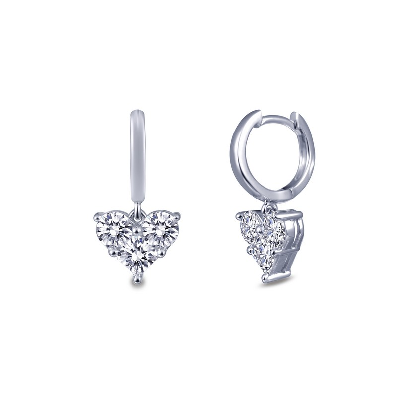 Lafonn Heart Dangle Earrings J Lewis Jewelry Custom and