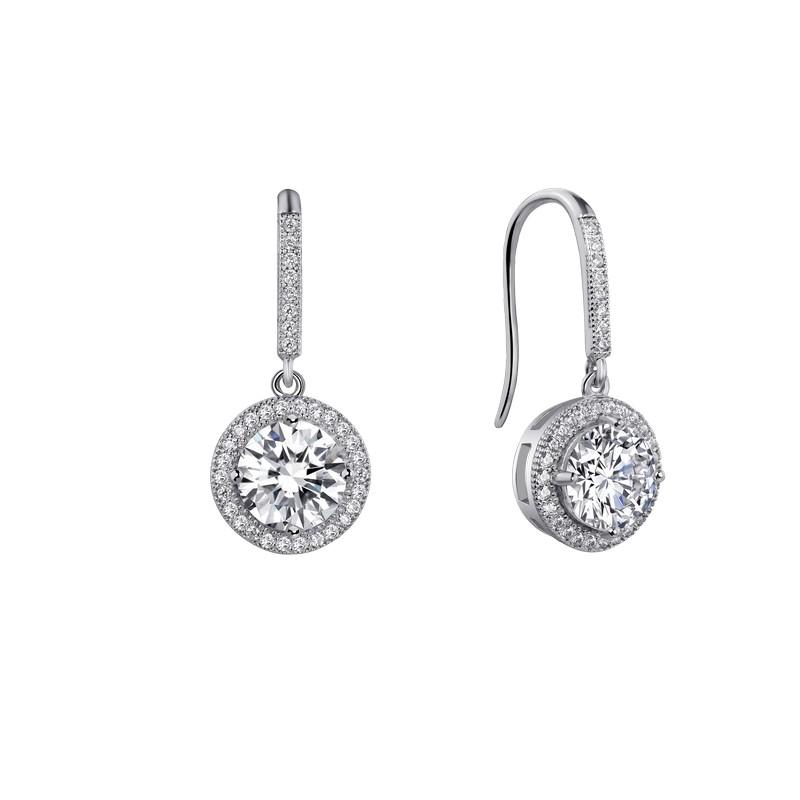65bfc7e64 Lafonn Halo Round Dangle Earrings   J. Lewis Jewelry   Custom and ...
