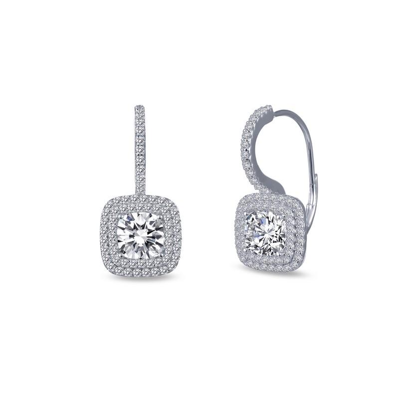 fb7680317 Lafonn Radiant Double Halo Drop Earrings   J. Lewis Jewelry   Custom ...