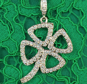 Custom Diamond 4-Leaf Clover Necklace