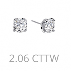 2.06 round stud earrings