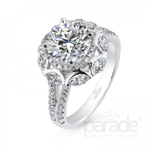 Parade Marquise Halo Ring