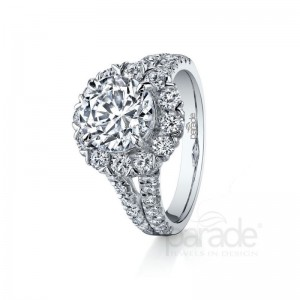 Classic Diamond Halo Engagement Ring Parade Jewelry