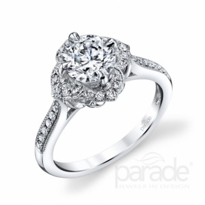 Parade diamond engagement ring