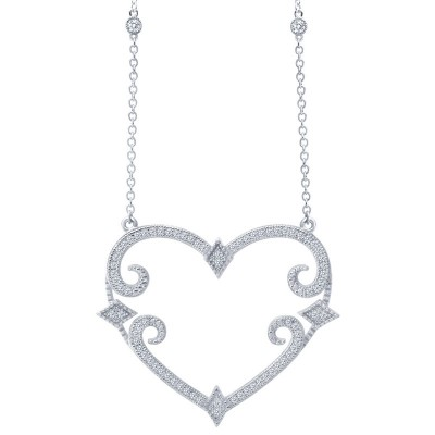Lafonn Scroll Heart Pendant
