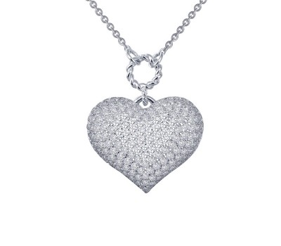 Lafonn Puffy Heart Necklace